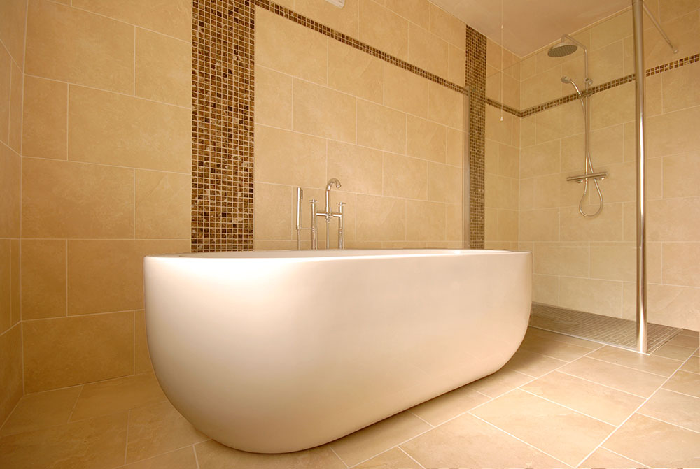 Bathroom Matt finish floor and wall tile with marble floor tiles
