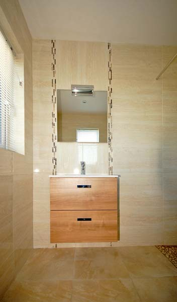 Bruxelle Beige 30x60 Glazed Wall Tile, Palladium Avorio 50x50  Matt Finish, Pebbles in shower